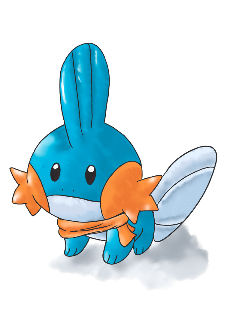 illustration du pokemon bleu et orange gobou